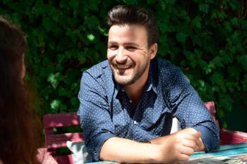 Diego Cantero, 'Funambulista', nos recibe en su casa