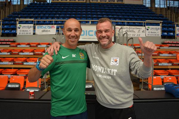 SoydeFuenla reúne a los entrenadores del C.F. Fuenlabrada y del Montakit Fuenlabrada al inicio de una temporada histórica