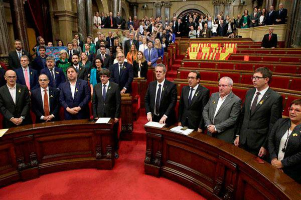 Cataluña se declara independiente