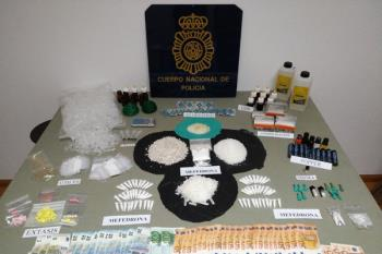 La Policía Nacional encuentra más de 1.500 gramos de Mefedroma, la sustancia con la que más trabajaba el detenido