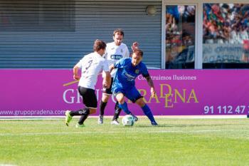 Los azulones ganan al Real Unión de Irún (1-0) con un golazo de Dioni