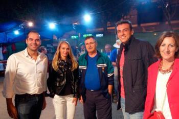 El líder de la formación naranja Ciudadanos estuvo presente en la caseta del partido durante las Fiestas Patronales