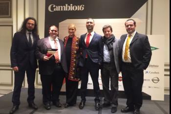 El fuenlabreño Esteban Hernando premiado por Cambio 16