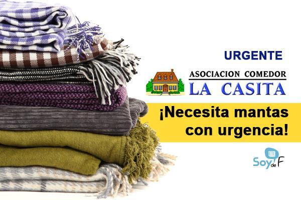 URGENTE: El Comedor Social La Casita necesita mantas