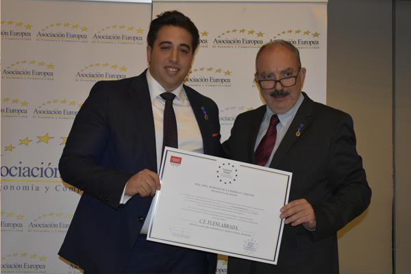 La Medalla Europea al Mérito en el Trabajo que otorga AEDEEC tiene nombre fuenlabreño.